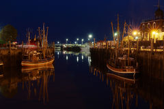 Old harbor of neuharlingersiel Royalty Free Stock Photos