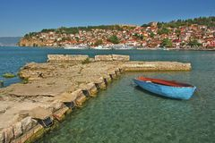 Old harbor in Ohrid Royalty Free Stock Photos