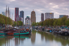 Old harbor of Rotterdam Royalty Free Stock Photos