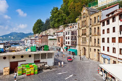Old harbor of San Sebastian, Spain Stock Images