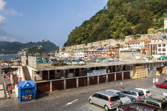 Old harbor of San Sebastian, Spain Royalty Free Stock Photography