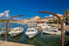 Old harbor of Stari Grad Hvar island Royalty Free Stock Photo