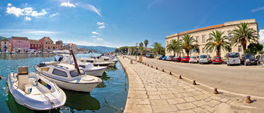 Old harbor of Stari Grad town Stock Photo