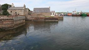 The old harbor of Stromness, Orkney Islands, Scotland stock video