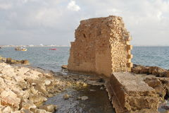 Old Harbor Tower - Acre - Israel Royalty Free Stock Photo