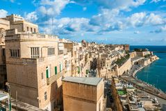 Old Harbor and Victoria gate, Valetta, Malta. Stock Photo
