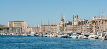 The old harbor Vieux Port of Marseille in France Stock Photo