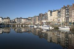 Old Harbour. Honfleur - The old harbour Stock Image