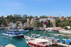 Old harbour Antalya Royalty Free Stock Images