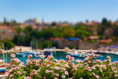 Old harbour in Antalya, Turkey royalty free stock photography