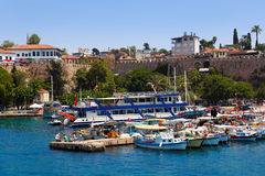 Old harbour in Antalya, Turkey Royalty Free Stock Images