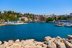 Old harbour in Antalya, Turkey Stock Images