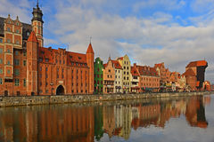 Old harbour canal in Gdansk. Stock Photography