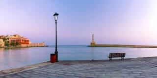 Old harbour, Chania, Crete, Greece Stock Photos