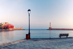 Old harbour, Chania, Crete, Greece Royalty Free Stock Photo