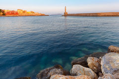 Old harbour, Chania, Crete, Greece Royalty Free Stock Photos