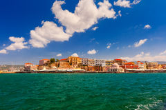 Old harbour, Chania, Crete, Greece Royalty Free Stock Images