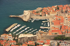 The Old Harbour at Dubrovnik, Croatia Stock Photography