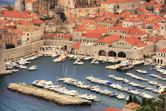 Old Harbour at Dubrovnik, Croatia Stock Photography