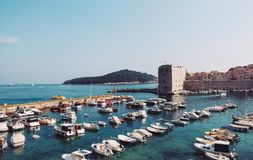 Dubrovnik Old Harbour royalty free stock photos