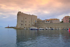 The Old harbour at Dubrovnik Stock Image