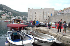 The Old harbour at Dubrovnik Stock Photo