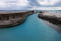 Old harbour entry on Paradise Island, Bahamas Royalty Free Stock Images