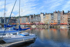 Old harbour of Honfleur, France Royalty Free Stock Images
