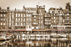 Old harbour of Honfleur, Normandy, France Stock Photography