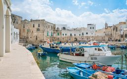 Free Old Harbour In Monopoli, Bari Province, Southern Italy. Stock Photography - 103889562