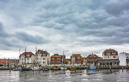 Old harbour in Kerteminde, Denmark Stock Photo