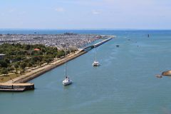 Old harbour of La Rochelle in France Royalty Free Stock Photography