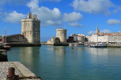 Old harbour of La Rochelle, France Royalty Free Stock Photo