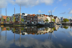 Old harbour Leiden royalty free stock photo