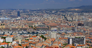 Old Harbour in Marseilles. The Old Harbour (Vieux-Port) of Marseilles, France Stock Photo