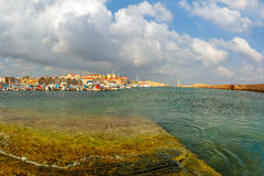 Old harbour in the morning, Chania, Crete, Greece Royalty Free Stock Photography