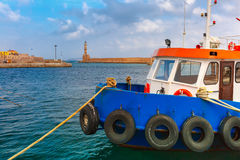 Old harbour in the morning, Chania, Crete, Greece Royalty Free Stock Photos