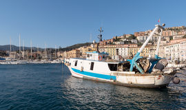 Old harbour, Porto Santo Stefano, Tuscany, Italy Stock Photo