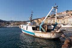 Old harbour, Porto Santo Stefano, Tuscany, Italy Stock Photos