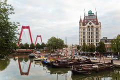 In the old harbour of Rotterdam Royalty Free Stock Photo