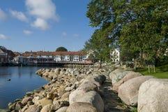 Old harbour Simrishamn Stock Image