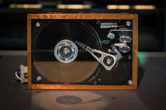 The old hard disk drive close up Royalty Free Stock Photo