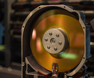 The old hard disk drive close up Stock Photos