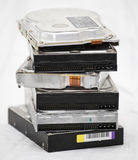 Old hard disk drives in a pile Stock Photography