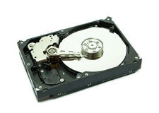 Old hard disk on white Stock Photography