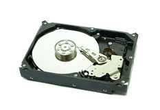 Old hard disk on white background Stock Images
