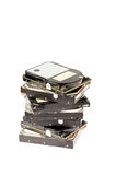 Old hard drives Stock Image