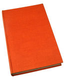 An old hardback book. With a textured orange cover Royalty Free Stock Photography