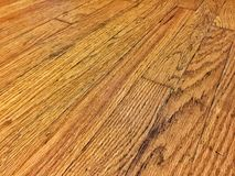 Old hardwood floor. Looking down at a old hardwood flooring Stock Photography