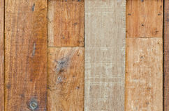 Old hardwood wall for background Royalty Free Stock Images